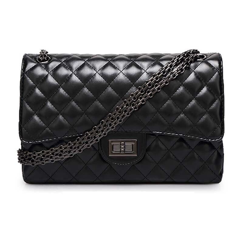ФОТО Sac A Main Lamb Skin Women Messenger Bags  Handbags Brands New Plaid Chain Shoulder Bag Bolsas Feminina  2015 Crossbody Bag