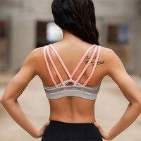 LULU Yoga Tops Vest Women Movimiento Athletic Sports Bras Seamless Sexy Cross Back Push Up Bra