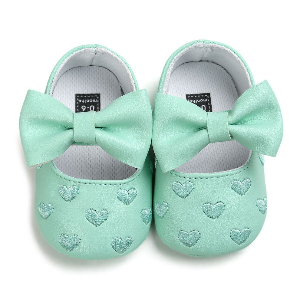 ABWE Best Sale Toddler Kids Girl Princess Bow Dress Shoes Green 6-12m
