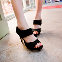 Chainingyee casual style sexy peep toe summer sandals slip waterproof green blue purple black high heeled women's shoes