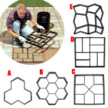 newly Garden DIY Plastic Path Maker Pavement Model Concrete Stepping Stone Cement Mould Brick TT-best