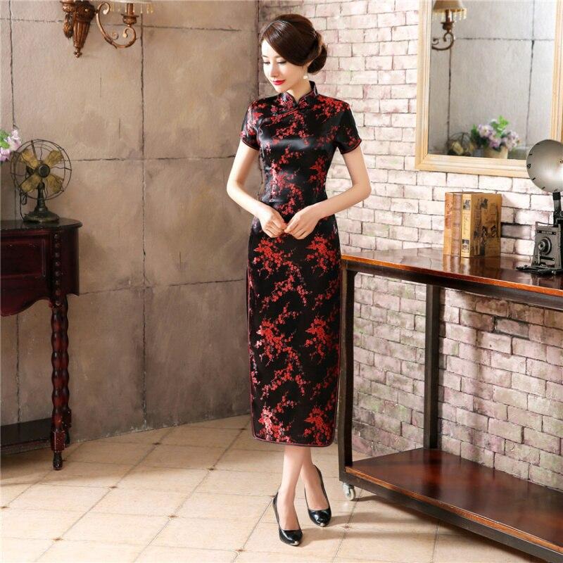 S-5XL Plus Storlek Stora Retro Kvinnor Kinesisk Drake Phoenix Lång - Nationella kläder - Foto 2