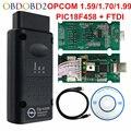 2018 автомобильный диагностический кабель OPCOM 1 99 1 70 1 59  сканер OBD2 с чипом PIC18F458 FTDI для автомобилей Opel  OBD 2  интерфейс OBD II