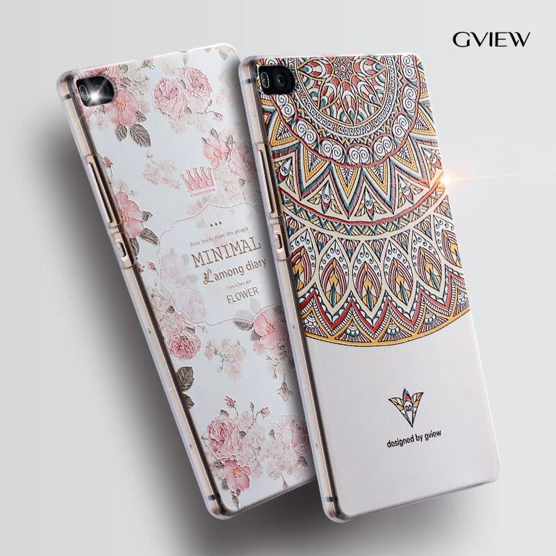 "Gview Huawei p8 pouzdro na telefon Huawei p8 Reliéf kreslený obrázek obraz Silicone 5,2 ""zadní kryt"