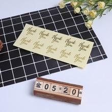 100pcs/lot Kawaii Thank You Transparent Gilding Heart style Sealing sticker DIY Gifts posted Baking Decoration label