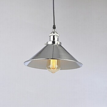 ФОТО 1 Light  Edison Bulb Rustic Retro Loft Style Industrial Lamp Vintage Pendant Light Polished Nickel,E27 Bulb Included,AC 90V~260V