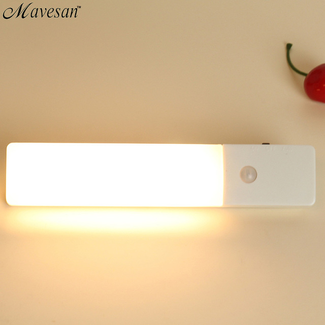 Casa sem fio motion sensor de corpo humano levou wadrobe luz do armário para armário gaveta-poupança de energia da lâmpada branca