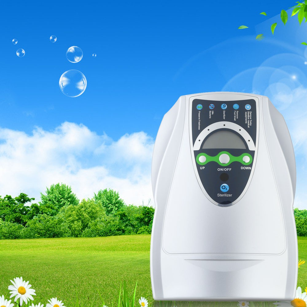 ФОТО Portable Active Ozone Generator Sterilizer Air purifier Purification Fruit Vegetables Water Food Preparation Ozonator Ionizator