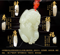 Carved white jade pendant Male pendant lucky texture eslpodcast pi xiu jade pendant male charms necklace