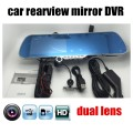 5 Inch Review Mirror Car DVR include rear Camera Reverse night vision dual lens camcorder dash cam video recorder driving