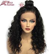 Мечта Красота бразильский Реми вьющиеся волосы натуральный цвет 150 плотность предварительно сорвал натуральных волос 360 Накладные пряди на кружеве для передней части головы парик
