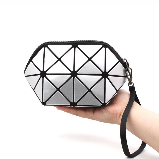 Yaomeer Lady Laser Clutch Bag Women Folded Geometric Clutch Bag Diamond Lattice bags handbags women famous brands Purses 004