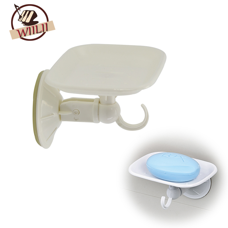 Plastic Wall Mounted Portable Storage Soap Box With Hook Bathroom Accessories For Travel Carry Case