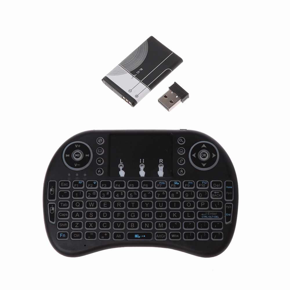 Rechargeable 3 Backlits 2.4GHz sans fil i8 clavier Touchpad mouche souris