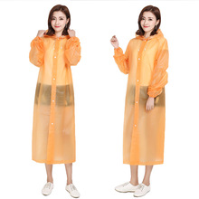 Fashion Women Man EVA Transparent Raincoat Poncho Portable Environmental Light Long Use Rain Coat