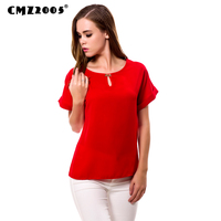 Fashion Elegant O Neck Solid Color Women S Short Sleeve Blouse Office Lady Casual Summer Simple