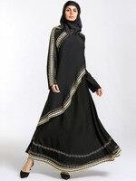 Muslim Abaya Turkish Caftan Dresses With Scarf Chiffon Dubai Kaftan Maxi Dress Long Womens Islamic Clothing