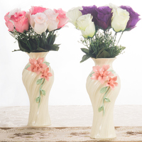 Modern simplicity ceramic vases crafts porcelain flower vase creative home living room decoration ikebana wedding accessories
