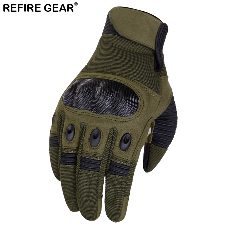 Refire Gear Ride Outdoor Full Finger Gloves Men Winter Bycicle Sport Hiking Shooting Glove Bike Camping Hunting Cycling Gloves Fancy Colours