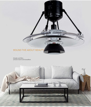 New LED with Fan Light Creative Simple Invisible  Black Ceiling