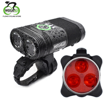 WOSAWE USB Rechargeable Bike Light IP67 Waterproof Front Lamp Rear Torch Cycling LED Flashlight Headlight Bicycle Accessories