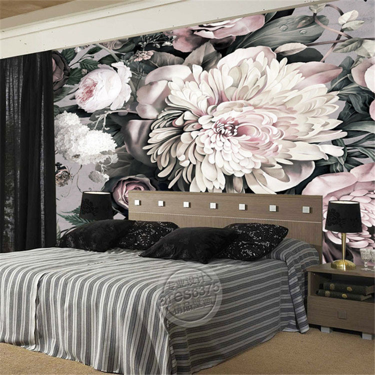 3d elegant photo wallpaper peony flowers wallpaper custom. Black Bedroom Furniture Sets. Home Design Ideas