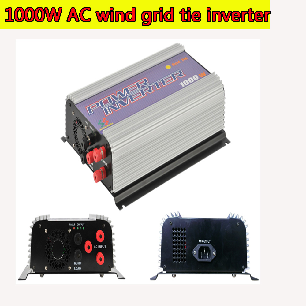 1000W MPPT Pure Sine Wave On Grid Tie Inverter for 3 Phase AC 22-60V/45-90V Wind turbine Wind Grid Tie Inverter with Dump Load solar power on grid tie mini 300w inverter with mppt funciton dc 10 8 30v input to ac output no extra shipping fee