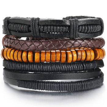 Vintage Multilayer Leather Bracelet for Men Bracelets Jewelry Men Jewelry New Arrivals Metal Color: FDY985