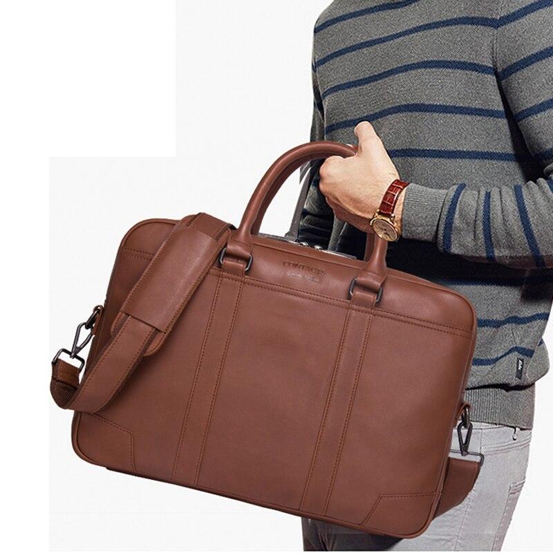 Borse a tracolla in pelle per uomo portamonete con - Borse da lavoro - Fotografia 6