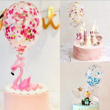 5inch Confetti Balloon Cake Topper Decoration Wedding Party For Kids Beautiful Favors And Gifts Baby Shower Decor