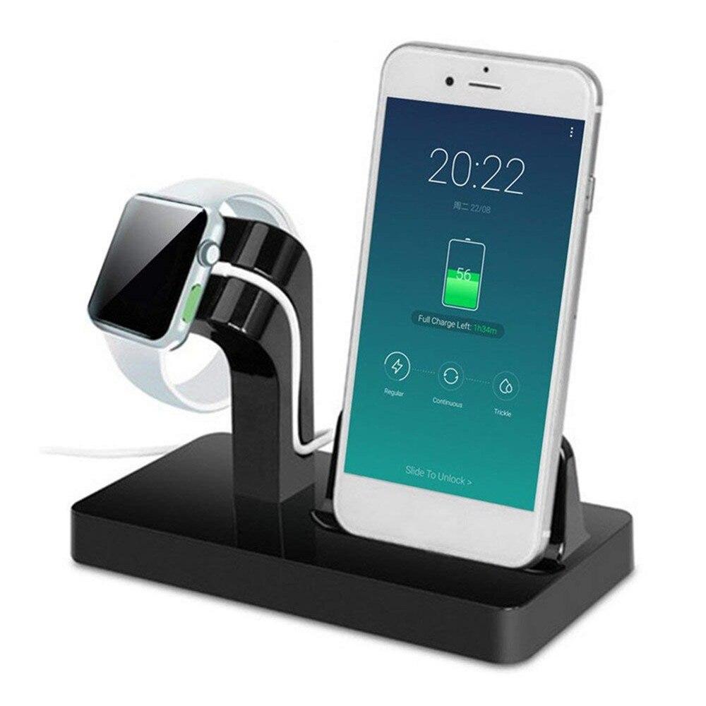 Lade Dock Ständer Halter Für Apple uhr iwatch 4/3/2/1 42mm 38mm IPhone X 87 7/8 Plus 6 s 6 Plus 6 s 5 s 2 in 1 ladegerät station