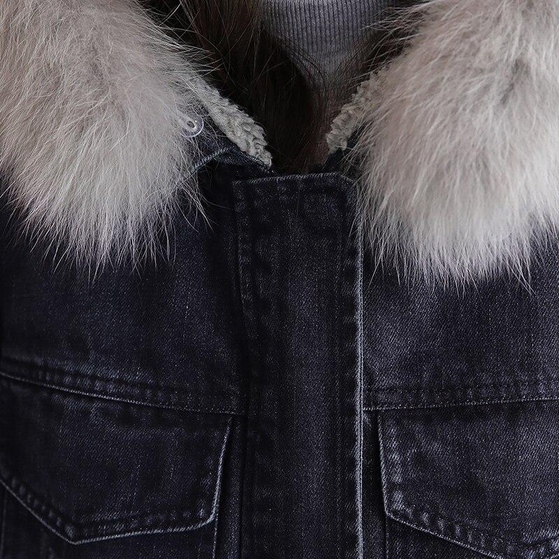 Denim Mode Vêtements Slim Femme Vestes À Longues Ouatée Chaud D'hiver Manches Hiver Veste Manteau 2018 Femmes New Coton q7dwFEq
