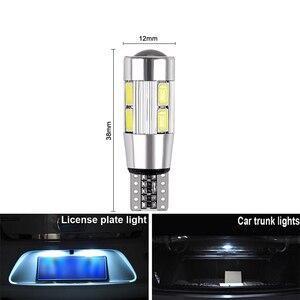 Image 2 - 2x T10 W5W araba LED sinyal ampul Canbus otomatik iç ışık plaka okuma dönüş kama yan park ters fren lambası 10SMD