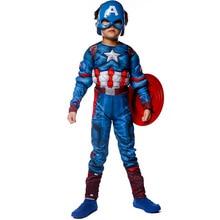 Halloween Kid Captain America Jumpsuit Children s Day Boy Child Superhero The Avengers Captain America Muscle