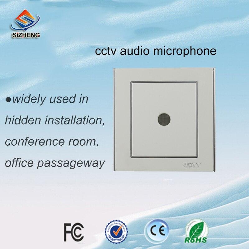 SIZHENG COTT-C6 CCTV áudio do microfone sensível-38dB de captação de som para solução de segurança da sala de aula