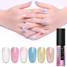 Lilycute Regenboog Glitter Nail Gel Polish Shimmer Losweken Uv Led Parel Nail Art Gel Lak Ontwerp 5 Ml 6 kleuren(China)