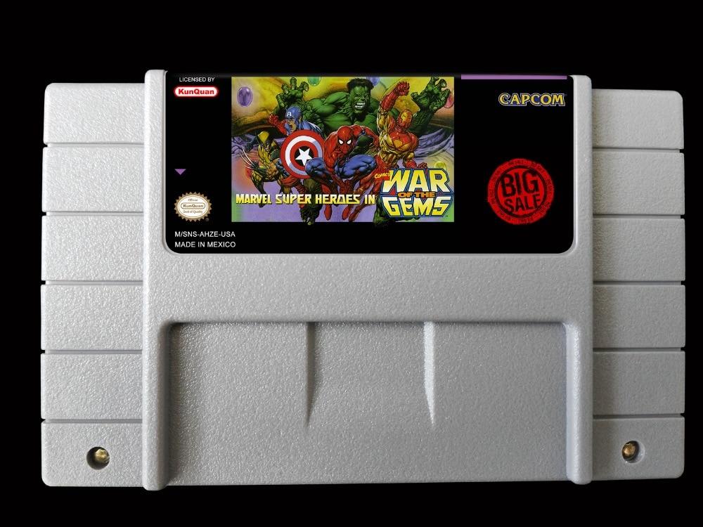 16Bit Games ** Marvel Super Heroes IN War Of The Gems ( USA version!! )