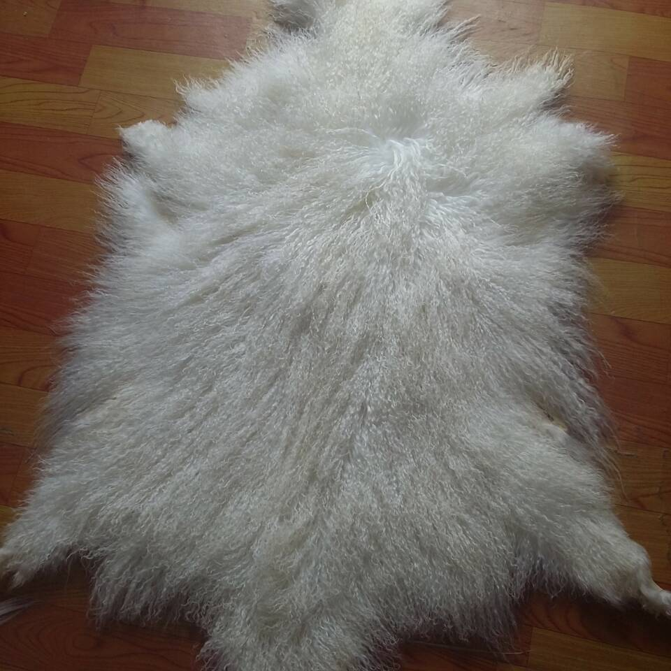 White Color Real Tibetan Curly Sheep Fur Pelt Long Hair Mongolian Lamb Skin In From Home Garden On Aliexpress Alibaba Group