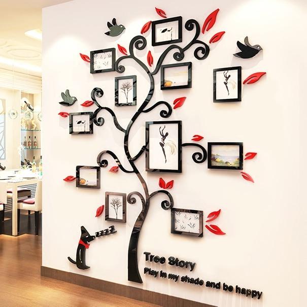 Akrilo nuotraukų rėmelių siena Šeimos medžio lipdukai 3D - Namų dekoras - Nuotrauka 4