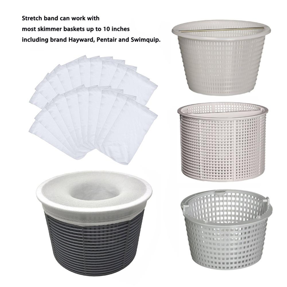 5pcs/10pcs/20pcs Swimming Pool Filter Saver Skimmer Basket Sleeve Mesh Screen Sock Pool Skimmer Socks, Baskets Not Included