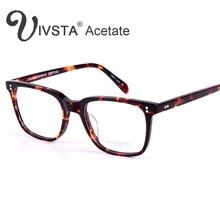 IVSTA Oliver Völker Echt Acetat Brille Männer Optische Rahmen Brillen Marke Logo Spektakel Johnny Depp Box Schildkröte Demi Grade