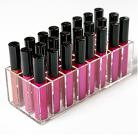 AILA Acrylic Lip Gloss Holder 24 Slots Lipstick Box Display Stand Sundry Storage Box Cosmetic Makeup