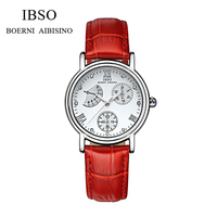 IBSO Silver Women Watches Luxury High Quality Water Resistant Montre Femme Stainless Steel 2016 Dress Woman