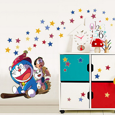 doraemon wall sticker glow in the dark wall stickers decal for kids