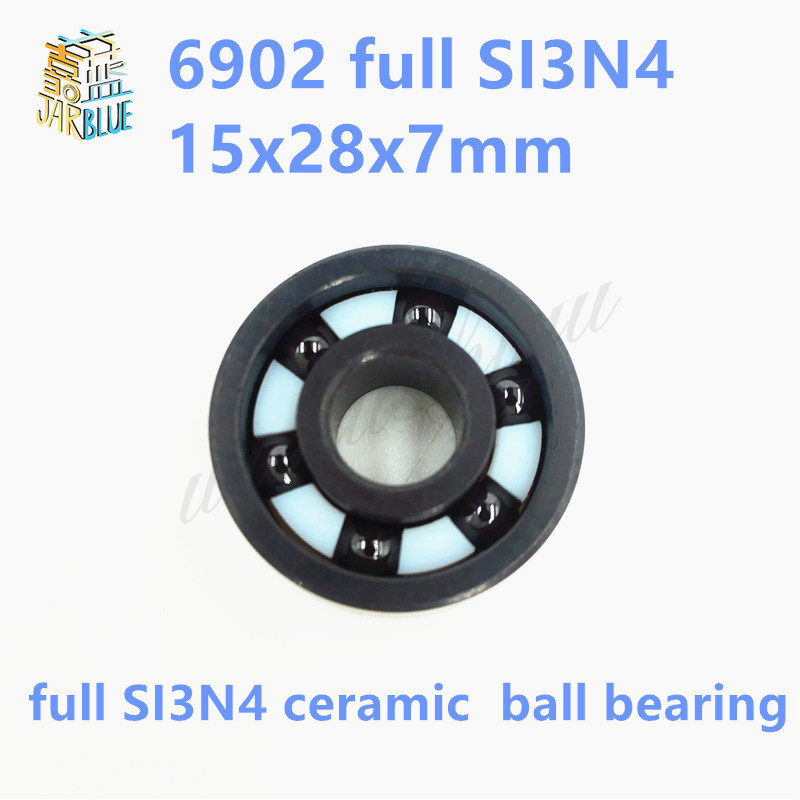 Free shipping 6902 full SI3N4 ceramic deep groove ball bearing 15x28x7mm 61902 P5 ABEC5