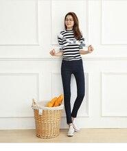 Plus size L-5XL elastic women legging Euro 2016 autumn winter high quality thicken warm slim rivet ladies pencil pants F28