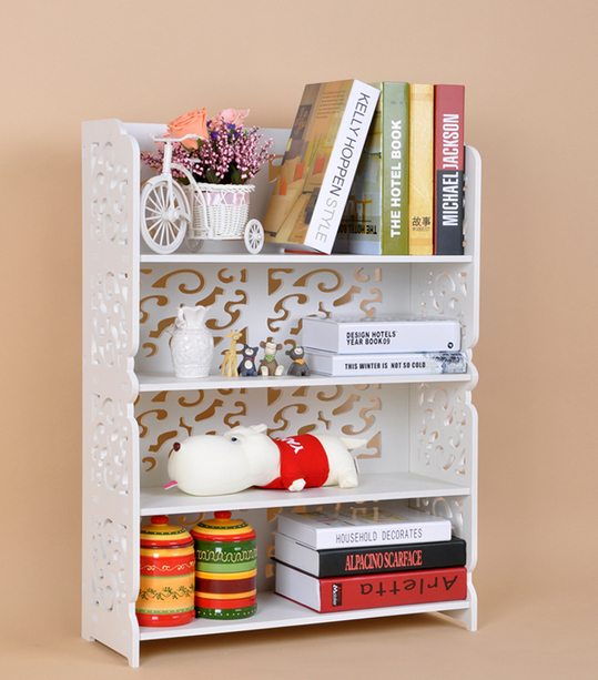 four shelves carved hollow multilayer combination shoe rack ikea simple bookshelf shelving - Shoe Rack Ikea