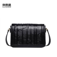 Cow leather handbag free delivery New leather women bag Retro shoulder Messenger bag Casual small square bag