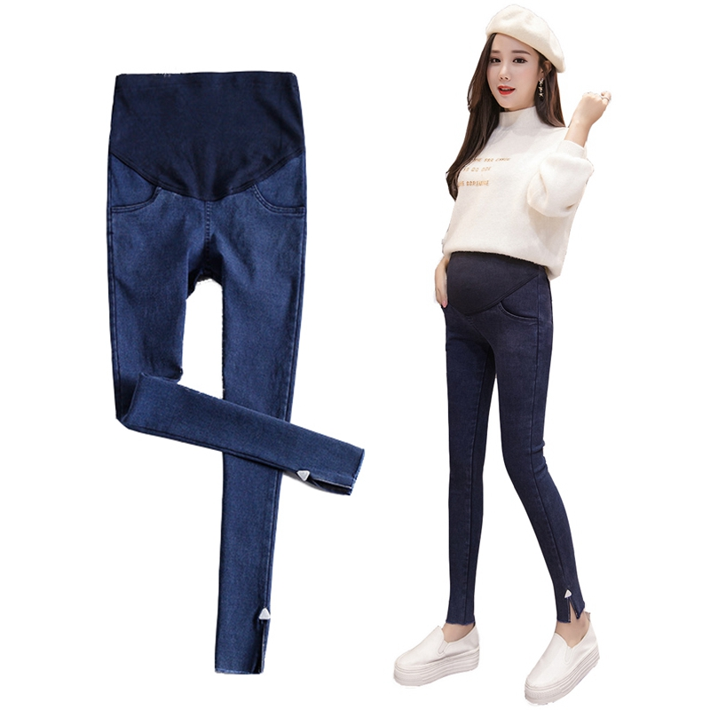 Maternity Clothes Maternity Pants Cotton Elastic Waist Circumference Maternity Pants Ropa De Embarazada Jeans For Pregnant Women