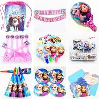 Disney Frozen Anna Elsa party Decorations for kids Plates cup napkin Knife fork spoon cap Birthday Party Supplies Baby Shower